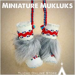 Miniature #Mukluks made by Marie Adele Wetrade from #Gameti, NT on http://onlinestore.tlicho.ca (Tlicho Online Store) Tags: mukluks gameti