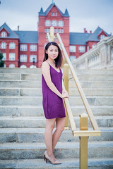 Alumna on campus (P e A i) Tags: portrait photography womanportrait canon teamcanon