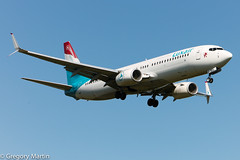 Luxair LX-LBA 27251476604 (Gregory Martin Photography) Tags: b738 ellx lxlba luxair