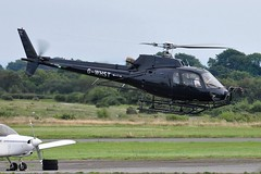 G-WHST (goweravig) Tags: gwhst ecureuil eurocopter visiting aircraft swansea wales uk swanseaairport cheshirehelicopters