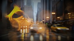 Yellow Cab (michael.veltman) Tags: from a cab in the rain yellow drop abstract chicago illinois city morning