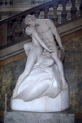 White Marble Sculpture (Christopher M Dawson) Tags: lovers kiss sculpture marble viking baltic scandinavia homelands travel international foreign tourism adventure history scenery art architecture europe ©2016cmdawson nikon sweden stockholm capital city government urban islands river monument royal palace kungligaslottet royalpalace gallery apartments