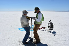 Salt Thickness Study (BLMUtah) Tags: bonnevillesaltflats science university utah westminster college blm bureauoflandmanagement studies thickness stratigraphy chemistry water weather climate dynamics human racers racing landspeed iconic land management