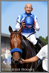 Drefong and Mike Smith (Spruceton Spook) Tags: saratoga horseracing horses drefong kingsbishop mikesmith