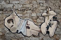 (robra shotography []O]) Tags: sardegna sardinia orgosolo murales italy streetart holidayssnapshot barbagia wall launeddas italia nuoro