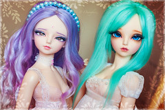 MNF Girls (Einwegherz) Tags: bjd abjd balljointed doll fairyland minifee mnf slim msd girl woosoo rheia group