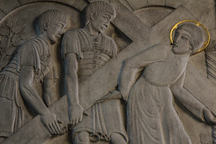 Tradiderunt (Lawrence OP) Tags: westminster cathedral jesuschrist stationsofthecross viacrucis soldiers cross ericgill basrelief