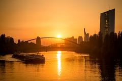 Frankfurt am Main (rene.schlaefer) Tags: frankfurtammain mainufer sonennuntergang sunset finanzen ezb brexit standort immobilien gterverkehr binnenmarkt brcke messe