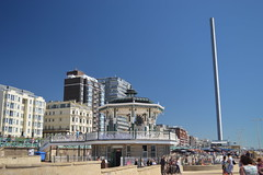 The Bandstand and the Tower (CoasterMadMatt) Tags: britishairwaysi3602016 britishairwaysi360 british airways i360 brightontower tower towers observationtower newfor2016 new brighton2016 brighton seasidetowns seaside town towns building structure architecture britishseaside southeastengland england britain greatbritain gb unitedkingdom uk august2016 summer2016 august summer 2016 coastermadmattphotography coastermadmatt photos photography photographs nikond3200 sussex englandssouthcoast