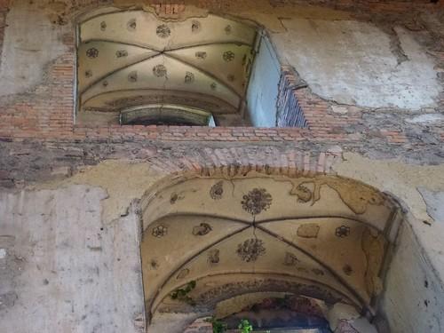 Sztukaterie w wieży mieszkalnej zamku Świny