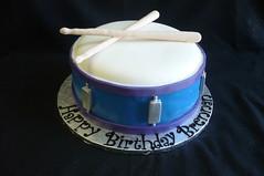 Snare Drum Birthday Cake (Custom Cakes By Liz) Tags: blue cake purple drum drumsticks snare fondant