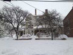Snow covered house on Centre St. (prestel.pups) Tags: nemo blizzard brookline coolidgecorner winterstormnemo