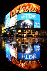 Piccadilly Circus (Explored 09.02.2013) (A-Lister Photography) Tags: london rain night reflections advertising lights piccadillycircus adamlister nikond5100 alisterphotography yahoo:yourpictures=colours2013