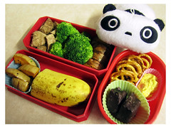 Poached Chicken Bento (Ysolla) Tags: food chicken vegetables fruit snack bento diet bentobox