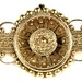 1051. Japanesque Style Gold Brooch