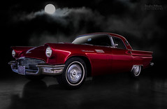 '57 T-Bird (DL_) Tags: auto classic ford car vintage automotive transportation 1957 moonlight thunderbird tbird candyapplered
