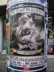 The Real Mackenzies (knightbefore_99) Tags: show canada art rock vancouver poster concert punk bc gig wise realmackenzies eastendradicals