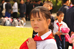 North Korean girl (yackshack) Tags: travel girl nikon asia asien child north korea explore pyongyang corea dprk coreadelnorte nordkorea d5000 coredunord coreadelnord   pjngjang dvrk