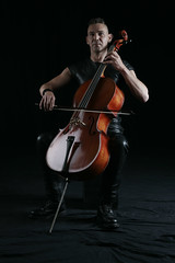 Cellist who plays the violoncello (rimerbl) Tags: leather cello violoncello jangriffioen