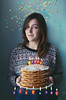 Happy Birthday to me! (daphne og.) Tags: birthday portrait food selfportrait pancakes photoshop self project happy fire candles days confetti happybirthday 365