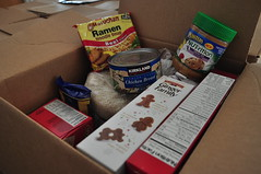 Inside a box distributed at our food pantry in Long Beach, CA (Salvation Army USA West) Tags: food healthy salvationarmy homeless families longbeach hunger donation hungry pantry spudcom