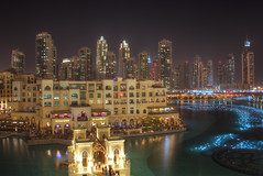 Souk Al Bahar (balph1) Tags: city water fountain skyline night skyscraper buildings mall al dubai uae khalifa souk hdr burj bahar