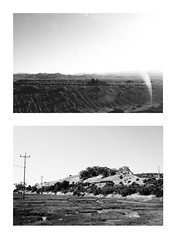 (judy-chen) Tags: california ca blackandwhite bw usa cali america diptych donedwards bayarea marsh ontheroad winter2010 summer2011