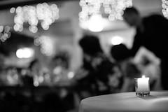 Precious Night (Junnn) Tags: wedding light party blackandwhite bw night hawaii us candle oahu reception 50mmf12 canonef50mmf12lusm canoneos5dmarkii thebayerestate silverefexpro2