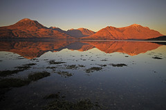 Upper Loch Torridon. (Gordie Broon.) Tags: winter sea seascape mountains seaweed nature canon reflections landscape geotagged photography scotland is scenery