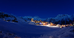 Orcires by night (BOSSoNe0013) Tags: mountain ski france alps station night montagne alpes resort fisheye nuit longexp