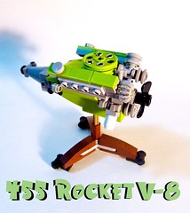 "Sneak Preview...455 ""Rocket"" V-8 (Lino M) Tags: lego engine rocket martins lino v8 lugnuts 455 madmotorskills"