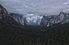 Tunnel View - Winter Clouds_HDR2 (rschnaible) Tags: california park usa mountain storm mountains west clouds landscape us long exposure view nevada scenic stormy tunnel scene el falls sierra explore national yosemite western granite vista geology bridalveil overlook hdr capitan geologic explored  park nrpad yosemite
