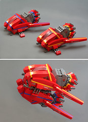 Shadwyck-Clipper TwinGARC MkII Turbo () Tags: lego space racer garc galacticasteroidrallycircuit hubethelubemchugh mademoiselleaurlieflouffe