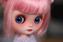 Cherry Blossom (andreeamariuka) Tags: blue cute hair cherry eyes pin blossom carving sakura blythe freckles custom ananassa middie