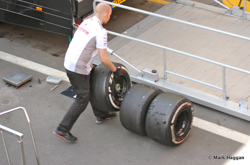 Jenson Button's tyres after Formula One Winter Testing, 3rd March 2013