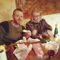 "Mother and brother take a well deserved kitchen lunch at #hungrycyclistlodge #burgundy • <a style=""font-size:0.8em;"" href=""http://www.flickr.com/photos/30386142@N06/8536508291/"" target=""_blank"">View on Flickr</a>"