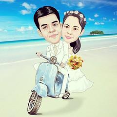 วาดภาพการ์ตูนล้อตามคอนเซป เริ่มต้นที่หัวละ 600 บาท  #ของขวัญวันแต่งงาน แบบนี้มีชิ้นเดียวในโลก #SOdAPrintinG เราคือตัวจริงเรื่องของขวัญ www.SOdA-PrintinG.com