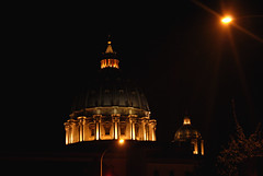 Habemus papam (patmic) Tags: roma cupola lampioni notturno basilicadisanpietro mygearandme mygearandmepremium rememberthatmomentlevel1