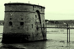 Martello Tower Pembroke Dock #dailyshoot # Wales (Leshaines123) Tags: ireland tower monochrome les ferry wales contrast project river pembroke site dock flickr haines web blogger 365 mudflats dockyard martello twitter conrtast dailyshoot tumblr pinterest leshaines