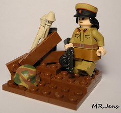 On the Russian countryside WWII (MR. Jens) Tags: world two soldier war tank lego russia union wwii helmet front soviet m42 ww2 eastern officer comander panzerfaust m35 unifom ppsh brickarms