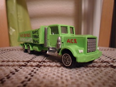 Kenworth Truck (HrExplorer) Tags: auto rescue green cars car truck corgi colours lorry alpine correct vehicle flatbed kenworth