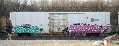 Terms/Bogus (quiet-silence) Tags: railroad art train graffiti ant railcar unionpacific graff freight reefer cdc bogus terms armn fr8 cik allnation armn110780