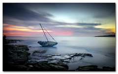 Washed up (Colin_Bates) Tags: park sunrise oak focus long exposure yacht group washed sandpiper cronulla ashore nd110