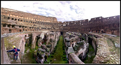 Colosseum Panoramic (Jon 89) Tags: old city trip travel winter italy panorama holiday man rome roma building history tourism monument stone architecture walking concrete photo site italian ancient ruins europe italia european view theatre roman stadium walk interior centre forum famous under central amphitheatre ruin engineering landmark visit scene icon location tourist panoramic structure historic colosseum arena empire imperial destination restoration disused worker coliseum inside below underneath february fighting iconic derelict app romans attraction gladiator gladiators iphone 2013 photosynth iphone4