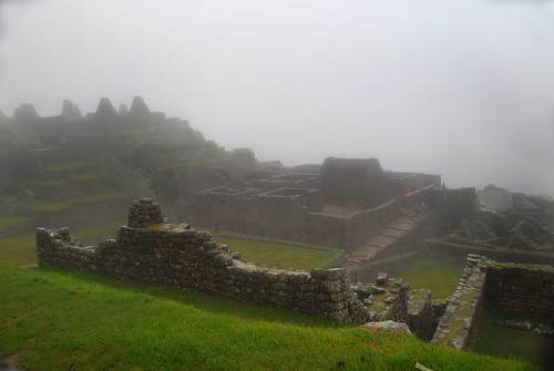 Machu Picchu in the fog