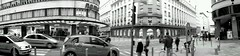 Melancholy in the city (jssmrenton) Tags: street city people blackandwhite panorama cars architecture slovenia slovenija flickrandroidapp:filter=nyc tagsljubljana
