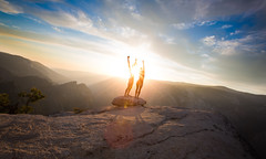 On top of the World II (Rekanyari) Tags: travel light sunset portrait sky love nature naked nude nationalpark couple yosemite romantic selfportrat adamandeve beautifulsunset rekanyari