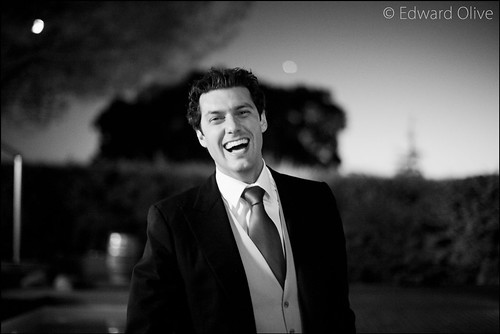 Portrait of groom in his garden - Copyright Edward Olive fotografos de bodas destination wedding photographer Spain & Europe