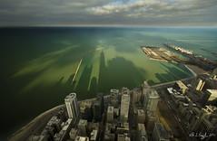 East Over the Lake (rjseg1) Tags: city urban chicago skyscraper lakemichigan lakeshoredrive navypier hancock
