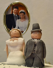 It was our 25th wedding anniversary yesterday. (conall..) Tags: cake groom bride anniversary 25th 25thweddinganniversary